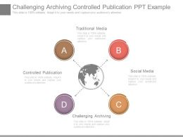 Challenging Archiving Controlled Publication Ppt Example