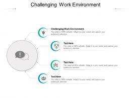 Challenging Work Environment Ppt Powerpoint Presentation Professional Gallery Cpb