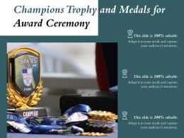 Champions Trophy And Medals For Award Ceremony