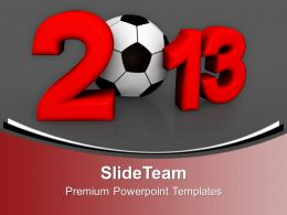 Championship Of Europe On Football New Year PowerPoint Templates PPT Backgrounds For Slides 0113