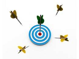 Chances To Hit Target Stock Photo