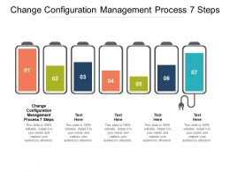 Change Configuration Management Process 7 Steps Ppt Powerpoint Presentation Professional Infographics Cpb