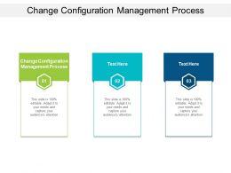 Change Configuration Management Process Ppt Powerpoint Presentation Show Cpb
