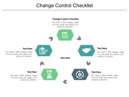 Change Control Checklist Ppt Powerpoint Presentation Slides Graphics Example Cpb