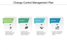 Change Control Management Plan Ppt Powerpoint Presentation Gallery Format Cpb