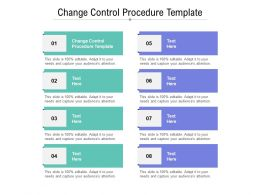 Change Control Procedure Template Ppt Powerpoint Presentation File Layout Ideas Cpb