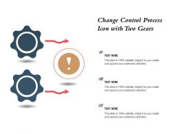 Change Control Process Icon With Two Gears