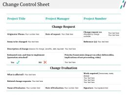 Change Control Sheet Powerpoint Slide Designs Download