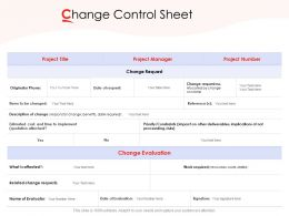 Change Control Sheet Ppt Powerpoint Presentation Professional Pictures