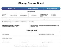 Change Control Sheet Ppt Powerpoint Presentation Structure