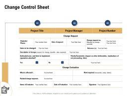 Change Control Sheet Request N168 Powerpoint Presentation Design Inspiration