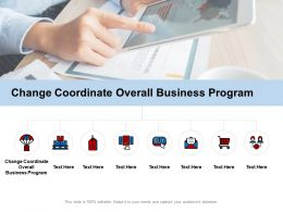 Change Coordinate Overall Business Program Ppt Powerpoint Presentation Ideas Good Cpb