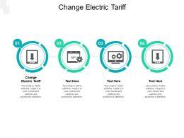 Change Electric Tariff Ppt Powerpoint Presentation Portfolio Brochure Cpb