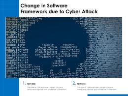 Change In Software Framework Due To Cyber Attack
