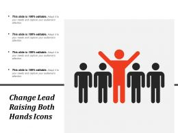 Change Lead Raising Both Hands Icons