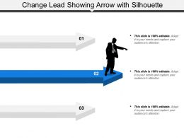 Change Lead Showing Arrow With Silhouette