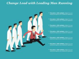 Change Lead With Leading Man Running
