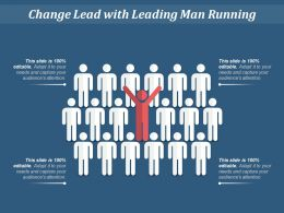 Change Lead With Man Raising Hand
