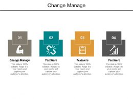 Change Manage Ppt Powerpoint Presentation Outline Inspiration Cpb