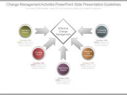 Change Management Activities Powerpoint Slide Presentation Guidelines