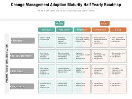 Change Management Adoption Maturity Half Yearly Roadmap