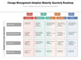 Change Management Adoption Maturity Quarterly Roadmap