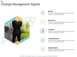 Change Management Agents Organizational Change Strategic Plan Ppt Guidelines