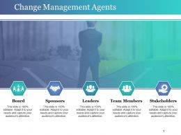 Change Management Agents Powerpoint Slide Backgrounds