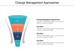 Change Management Approaches Ppt Powerpoint Presentation Icon Graphics Tutorials Cpb
