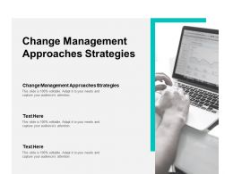 Change Management Approaches Strategies Ppt Powerpoint Presentation Maker Cpb