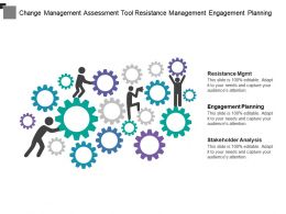Change Management Assessment Tool Resistance Management Engagement Planning