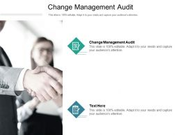 Change Management Audit Ppt Powerpoint Presentation Summary Slides Cpb