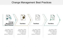 Change Management Best Practices Ppt Powerpoint Presentation File Examples Cpb