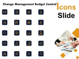 Change Management Budget Control Icons Slide L1195 Ppt Slides