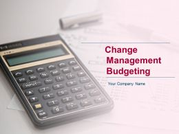 Change Management Budgeting Powerpoint Presentation Slides