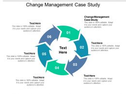 Change Management Case Study Ppt Powerpoint Presentation Portfolio Smartart Cpb