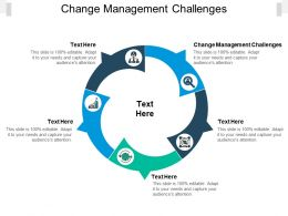 Change Management Challenges Ppt Powerpoint Presentation Gallery Cpb