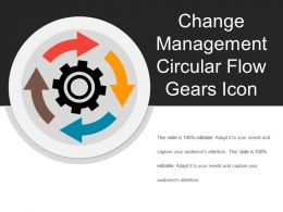 Change Management Circular Flow Gears Icon