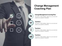 Change Management Coaching Plan Ppt Powerpoint Presentation Summary Inspiration Cpb