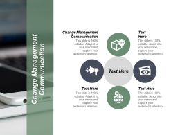 Change Management Communication Ppt Powerpoint Presentation Infographic Template Professional Cpb