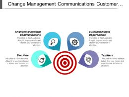 Change Management Communications Customer Insight Opportunities Market Sizing Case