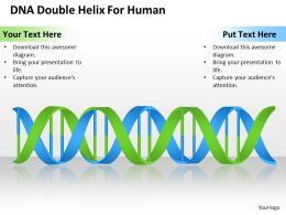 Change Management Consulting Double Helix For Human Powerpoint Templates PPT Backgrounds Slides 0618