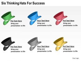 Change Management Consulting Hats For Success Powerpoint Templates PPT Backgrounds Slides 0617