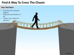 Change Management Consulting Way To Cross The Chasm Powerpoint Templates PPT Backgrounds For Slides