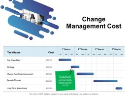 Change Management Cost Ppt Powerpoint Presentation Pictures