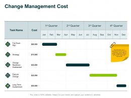 Change Management Cost Strategy Ppt Powerpoint Presentation Icon Information
