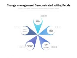 Change Management Demonstrated With 5 Petals