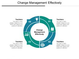 Change Management Effectively Ppt Powerpoint Presentation Show Layouts Cpb