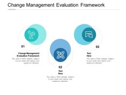 Change Management Evaluation Framework Ppt Powerpoint Pictures Images Cpb