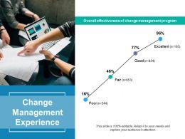 Change Management Experience Ppt Powerpoint Presentation Diagram Templates